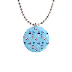 Sailing The Bay Button Necklace