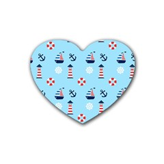 Sailing The Bay Drink Coasters (Heart)