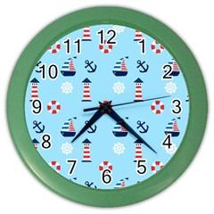 Sailing The Bay Wall Clock (Color)