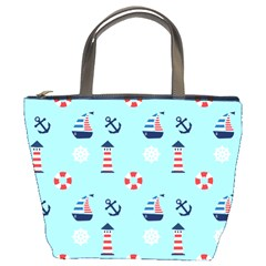 Sailing The Bay Bucket Handbag