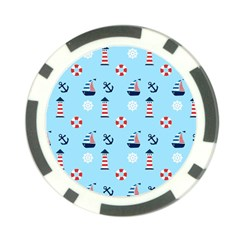 Sailing The Bay Poker Chip (10 Pack)
