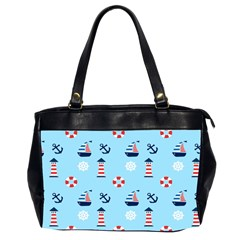 Sailing The Bay Oversize Office Handbag (two Sides)