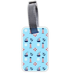 Sailing The Bay Luggage Tag (one Side)