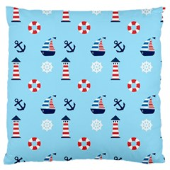 Sailing The Bay Large Cushion Case (single Sided)