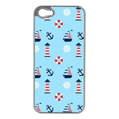 Sailing The Bay Apple iPhone 5 Case (Silver)