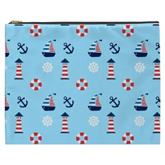 Sailing The Bay Cosmetic Bag (XXXL)