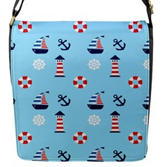 Sailing The Bay Flap Closure Messenger Bag (Small)