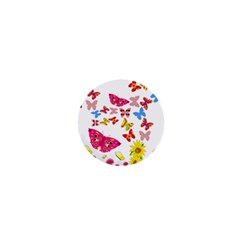 Butterfly Beauty 1  Mini Button