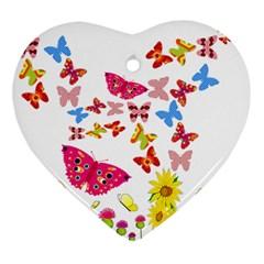 Butterfly Beauty Heart Ornament