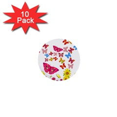 Butterfly Beauty 1  Mini Button (10 pack)