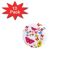 Butterfly Beauty 1  Mini Button Magnet (10 pack)