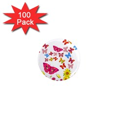 Butterfly Beauty 1  Mini Button Magnet (100 pack)