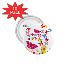 Butterfly Beauty 1.75  Button (10 pack)