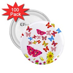 Butterfly Beauty 2.25  Button (100 pack)