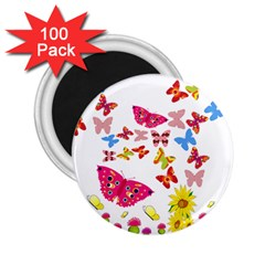 Butterfly Beauty 2 25  Button Magnet (100 Pack)