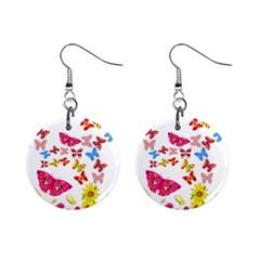 Butterfly Beauty Mini Button Earrings