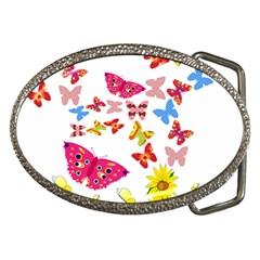 Butterfly Beauty Belt Buckle (Oval)