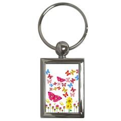 Butterfly Beauty Key Chain (Rectangle)