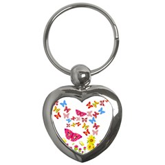 Butterfly Beauty Key Chain (Heart)