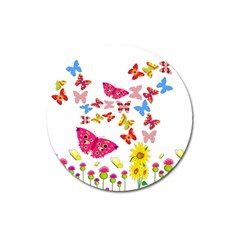Butterfly Beauty Magnet 3  (round)