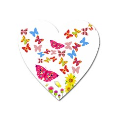 Butterfly Beauty Magnet (Heart)