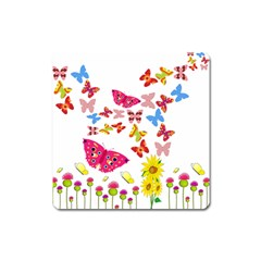 Butterfly Beauty Magnet (Square)