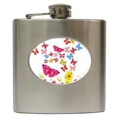 Butterfly Beauty Hip Flask