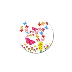 Butterfly Beauty Golf Ball Marker 4 Pack