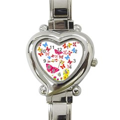 Butterfly Beauty Heart Italian Charm Watch