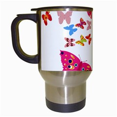Butterfly Beauty Travel Mug (white)