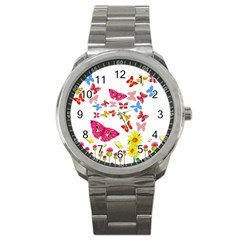 Butterfly Beauty Sport Metal Watch