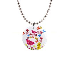 Butterfly Beauty Button Necklace