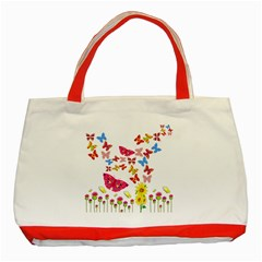 Butterfly Beauty Classic Tote Bag (Red)