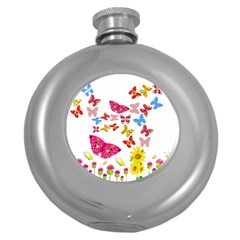 Butterfly Beauty Hip Flask (round)