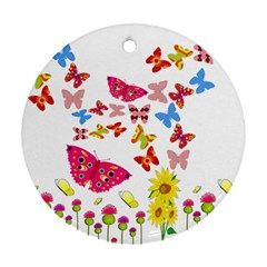 Butterfly Beauty Round Ornament (Two Sides)