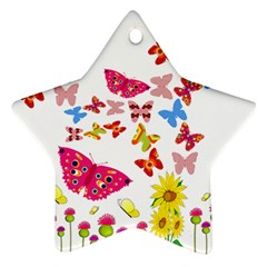 Butterfly Beauty Star Ornament (Two Sides)