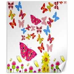 Butterfly Beauty Canvas 8  X 10  (unframed)