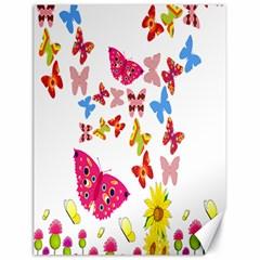 Butterfly Beauty Canvas 18  X 24  (unframed)