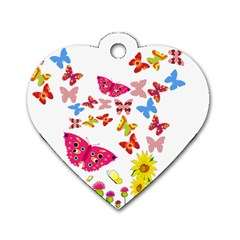 Butterfly Beauty Dog Tag Heart (One Sided)