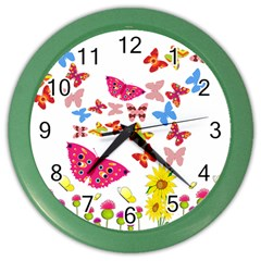 Butterfly Beauty Wall Clock (Color)