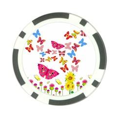 Butterfly Beauty Poker Chip