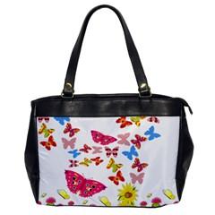 Butterfly Beauty Oversize Office Handbag (One Side)