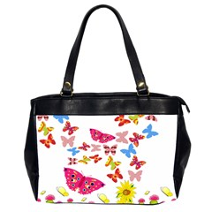 Butterfly Beauty Oversize Office Handbag (Two Sides)