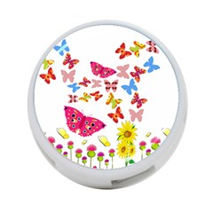 Butterfly Beauty 4 Port Usb Hub (two Sides)