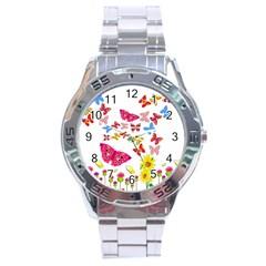 Butterfly Beauty Stainless Steel Watch