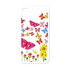 Butterfly Beauty Apple Iphone 4 Case (white)