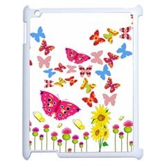 Butterfly Beauty Apple iPad 2 Case (White)
