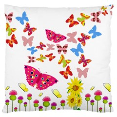 Butterfly Beauty Large Cushion Case (two Sided)