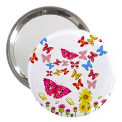 Butterfly Beauty 3  Handbag Mirror