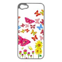 Butterfly Beauty Apple Iphone 5 Case (silver)